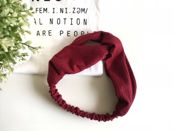 "Crossed headband ""wine"""