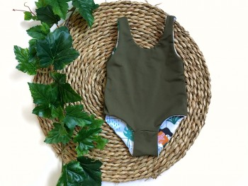 Swimsuit Tropical Grid