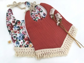 Boho bib mixed floral