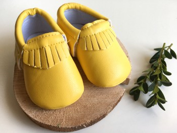 Yellow moccs