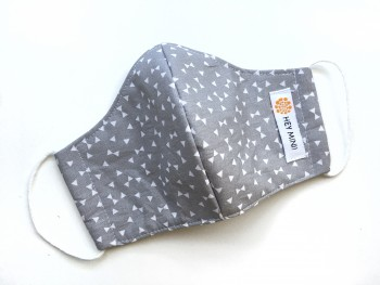 grey bows mask
