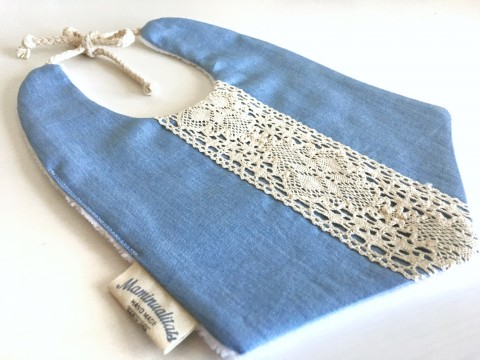 Boho bib pale denim