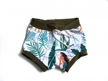 Swim boxer tropical grid