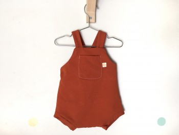 Romper rusty brown
