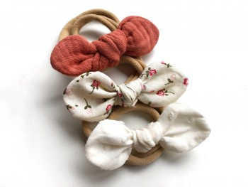 "3 mini headbands ""MARSALA"""