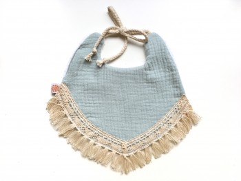 Boho bib dusty mint